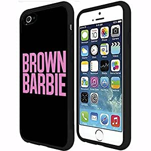 Brown Barbie Rubber Snap on Phone Case (iPhone 6 Plus)