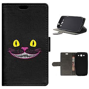 BeCool - Funda carcasa tipo [ Libro ] Samsung Galaxy S3 [ Función Soporte ] Gato Cheshire