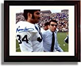 Framed Penn State Franco Harris and Joe Paterno Autograph Replica Print