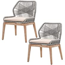 orient express furniture loom dining chair kd platinum set of 2