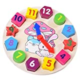 Kids Wooden Puzzle Toys Cognitive Digital Clock Digital...