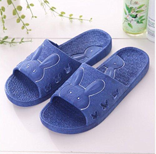 XING Couple De Non Bande PVC Dessinée Bain Slip Intérieur Blue Sandales Sandales Été Mignon De Maison GUANG Salle Femelle Bains Pantoufles PqwrPx