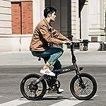 Bicicletta-Elettrica-Pieghevole-HIMO-Z20-con-Pedalata-Assistata-250W-DCMotoreMassima-Velocita-25kmhBatteria-Rimovibile20-Pollici-Pneumatici6-velocita-Shimano-Display-Intelligente-Doppio-freno