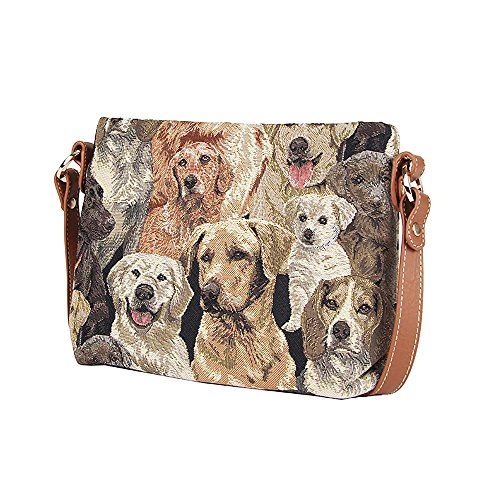 Bag Shoulder Body Across Labrador Signare Fashion Animal Handbag Messenger Tapestry Womens qFan6w7U