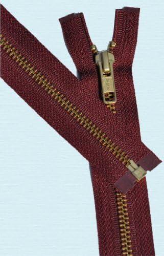 1 Zipper//pack 28\ Medium Weight Jacket Zipper YKK #5 Brass ~ Separating ~ 530 Dark Green