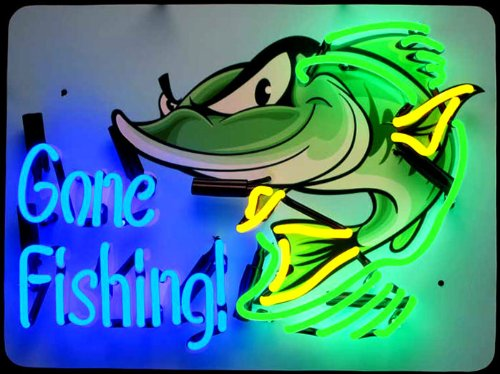 Neonetics Home Indoor Pub Restaurant Hotel Room Decorative Gone Fishing Neon ... by Neonetics (Image #1)