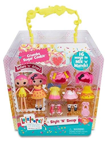Lalaloopsy Minis Style 'N' Swap Doll- Crumbs Sugar -