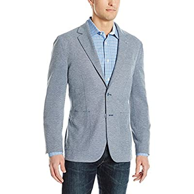 Bugatchi Men's Classy Two Button Blazer, Teal, 44 at Men's Clothing store