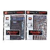 Knocker-Mens-Plaid-Boxer-Shorts-Underwear6-Pack