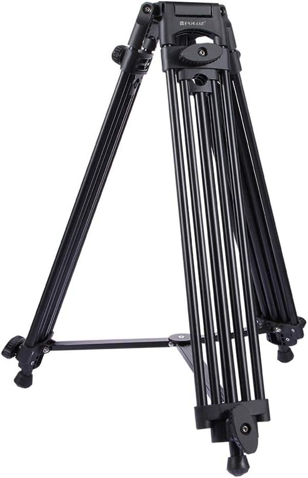 Teerwere Phone Tripod Heavy Duty Aluminum Alloy Tripod for DSLR SLR Camera Video Camcorder for Camera Phone Tripod with Remote Color : Black, Size : One Size