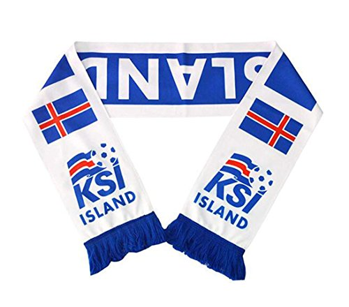 JAVI Sports FIFA 2018 World Cup National Team Scarves - All 32 Clubs to Choose from - Footbal Soccer Scarf (Iceland)