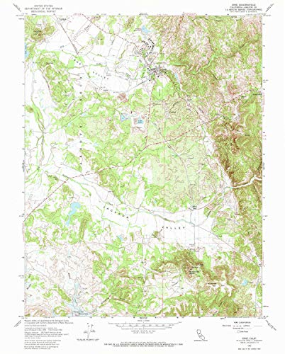 (YellowMaps Ione CA topo map, 1:24000 Scale, 7.5 X 7.5 Minute, Historical, 1962, Updated 1973, 26.8 x 21.5 in - Polypropylene)