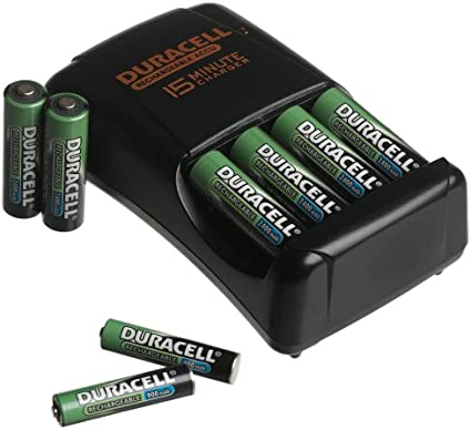 Amazon.com: Duracell 15 minutos de Cargador con 6 pilas AA y ...