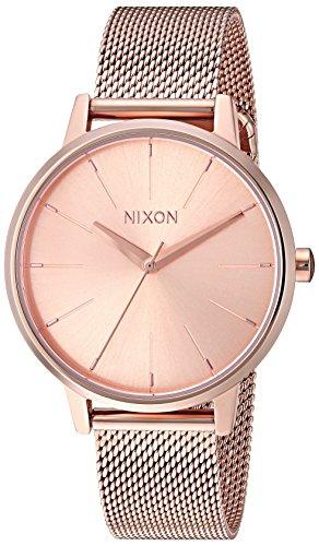 Nixon Women's Kensington Milanese Japanese-Quartz Watch with Stainless-Steel Strap, Rose Gold, 16 (Model: A1229897)
