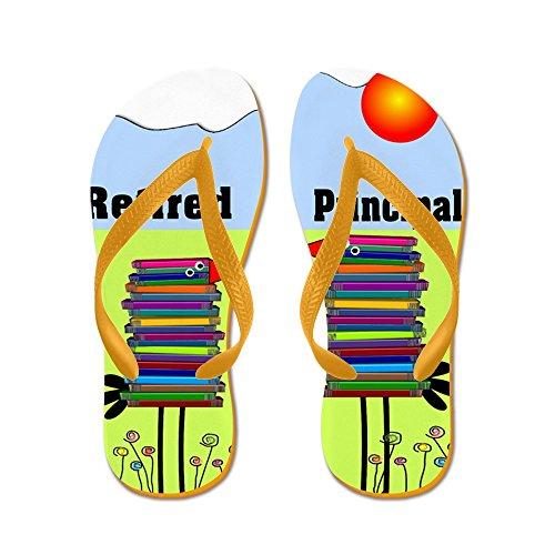 CafePress Retired Principal - Flip Flops, Funny Thong Sandals, Beach Sandals Orange