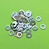 Jewelry Making 20 Aluminum Stamping Tags Round Donut Washers Scales - MT370 Perfect for Pendants, Earrings, Zipper pulls, Bookmarks and Key Chains