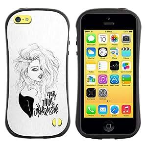 LASTONE PHONE CASE / Suave Silicona Caso Carcasa de Caucho Funda para Apple Iphone 5C / the sexy girl