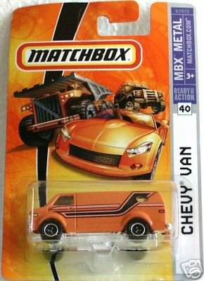 Mattel Matchbox 2007 1:64 Scale Orange Chevy Van Die Cast Car #40 by MBX -