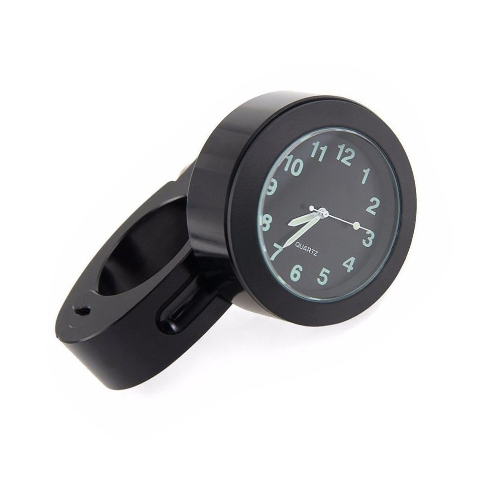 Espeedy Vé lo Moto Guidon support Mini impermé able Cadran montre Horloge Noir