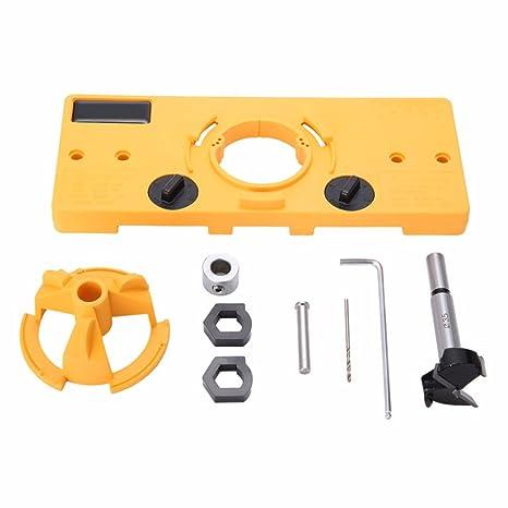35mm Hinge Drilling Jig 35mm Forstner Bit Woodworking Tool Drill