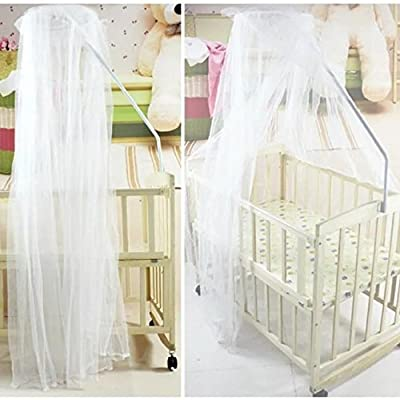 Sealive Baby Nursery Mosquito Net Baby Toddler Bed Crib Canopy Netting Dome Hanging Mosquito Soft & Breathable Kids Bed Crib Netting