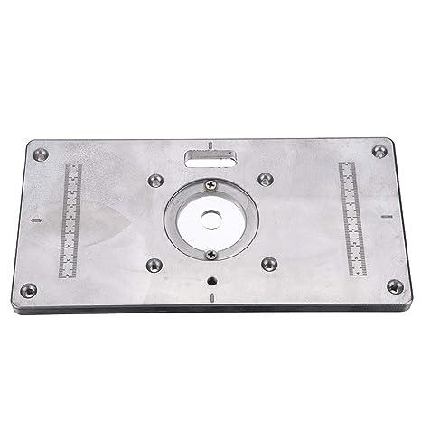 ChaRLes 235Mmx118Mm Aluminio Router Mesa Insertar Placa Para La ...