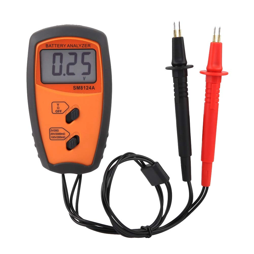 Naroote LCD Display Digital Resistance Voltmeter Battery Voltage Tester SM8124A by Naroote