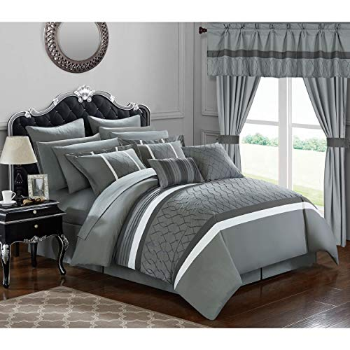 Chic Home 24-Piece Lance King Bed in a Bag Comforter Set King
