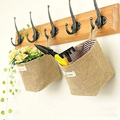 4636e4676853 MXCELL Mini Hanging Storage Bag Cotton Linen Small Organizer Storage ...