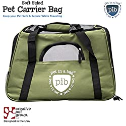Airline Approved Pet Carriers - Pet in a Bag - Green
