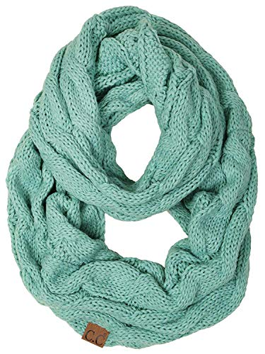 (S1-6100-54 Funky Junque Infinity Scarf - Mint (Solid) )