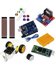 MV Kit Tarjeta Uno SMD con Carro Robot Seguidor De Linea Puente H Modulo Bluetooth