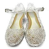 L-Peach Princess Girls' Cute Sparkle Sandals