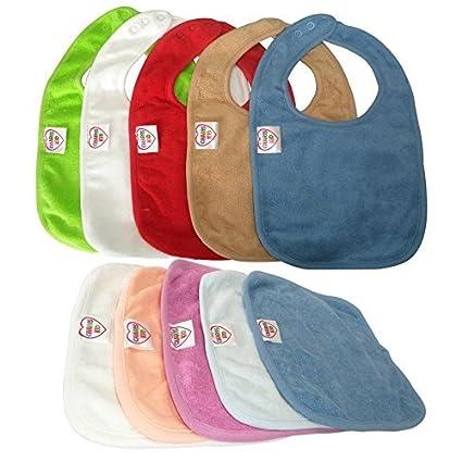 Mejor Bebé Baberos 100% algodón impermeable con cierre de tres broches de presión (5