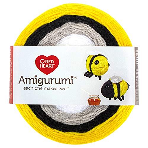 RED HEART E885. 9247 Amigurumi Yarn, Bumble Bee (Yarn Bee Brand Yarn)