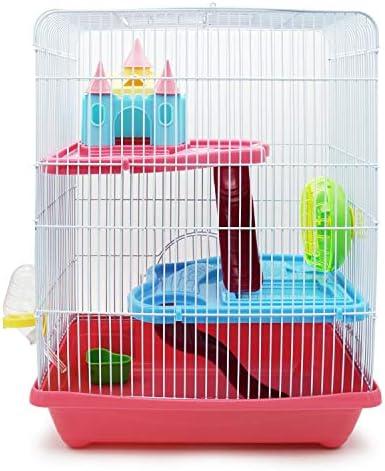 BPS® Hamsterkäfig, Hamstervilla mit Rad, Tunnel und Haus, 28 x 21 x 31 cm, Farbe wird nach Zufallsprinzip versandt