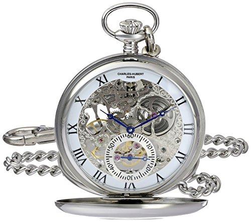 Charles-Hubert, Paris 3972-W Premium Collection Analog Display Mechanical Hand Wind Pocket Watch by Charles-Hubert, Paris