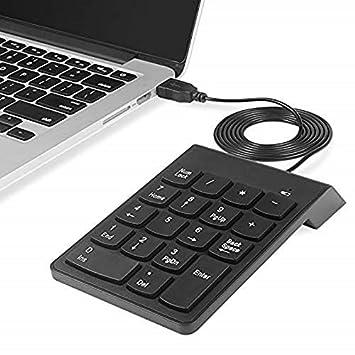 18 Keys USB Wired Mini Digital Keyboard Number Numeric Keypad for Desktop Laptop