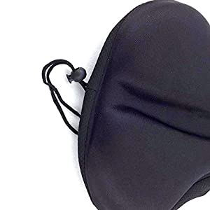 LARGE Bike Seat Cover, Gel Padded Sponge Bike Seat Cushion for Bicycles, Mountain Bikes, Stationary & Spin Bikes, Easy to Install Bicycle Seat Cushion Cover for Men & Women. 11 x 10.6 Inches Black