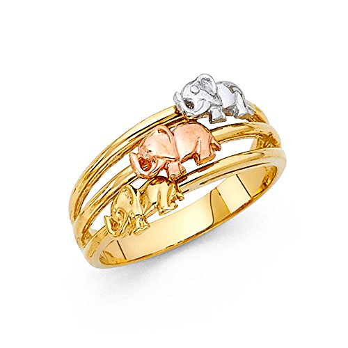 Elephant Tri Color Ring - 1