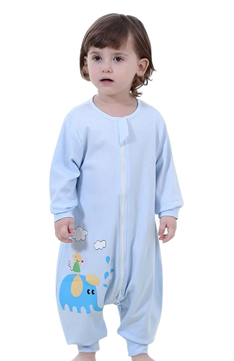 Happy Cherry Infant Baby Long Sleeves Sleepwear Sleep Bag, 95% Cotton, Blue