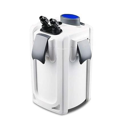 LIFUREN Filtro de pecera Tanque Externo Silencio actualización Super Filtro con lámpara germicida algodón de Filtro