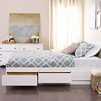 Amazoncom Prepac Full Mates Platform Storage Bed with 6 Drawers