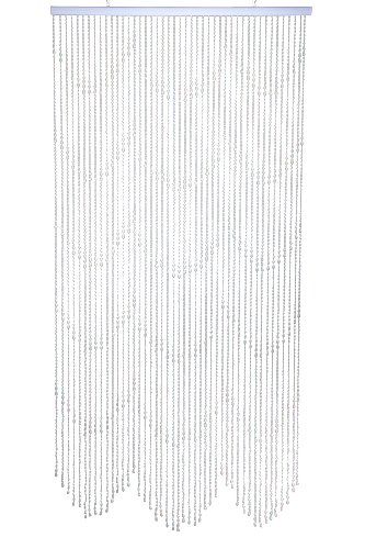 ShopWildThings Beaded Curtain Raindrops Glow-in-the-Dark White Acrylic - 34 Strands of Beads, Waterfall Pattern 3' Wide x 6' Long 2 Metal Eyelets for Easy Installation - living-room-soft-furnishings, living-room, draperies-curtains-shades - 51 XQbc2DtL -