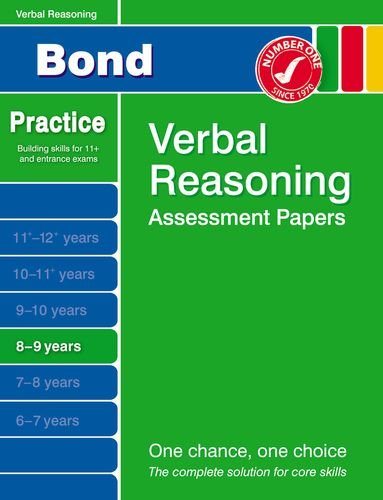 Bond Verbal Reasoning Assessment Papers 8-9 Years pdf