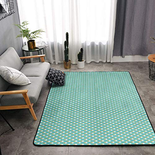 YOUNG H0ME Bedroom Livingroom Sitting-Room King Size Kitchen Rugs Home Decor - Ice Cream Party Mint Green Doormat Floor Mat Fast Dry Toilet Bath Rug Exercise Mat Throw Rugs Runner