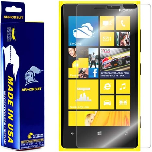ArmorSuit MilitaryShield Screen Protector for Nokia Lumia 920 - [Max Coverage] Anti-Bubble HD Clear Film (Cover For Nokia Lumia 920)