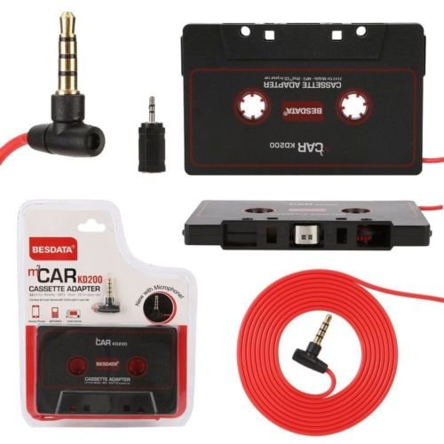 Gozebra(TM) Audio AUX Car Cassette Tape Adapter Deck CD MD 3.5MM Fit iPhone iPod MP3 Android