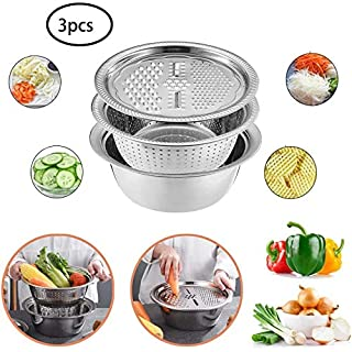 MQYZS Kitchen Graters Cheese Grater with Stainless Steel Drain Basin for Vegetables Fruits Cheese Chocolate