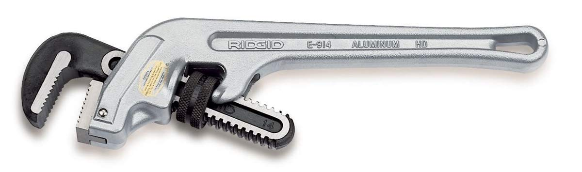 RIDGID 90117 E-914 Aluminum End Pipe Wrench, 14-inch Plumbing Wrench by Ridgid